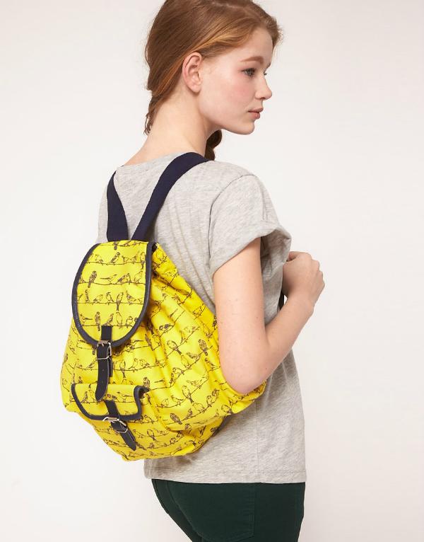 gelber rucksack asos