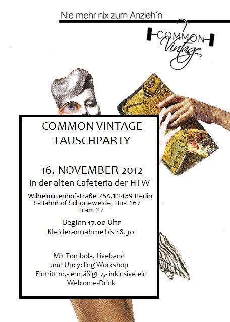 common vintage kleidertauschparty berlin htw