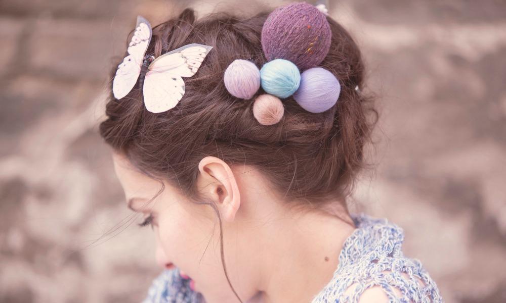 Haarschmuck aus Garn