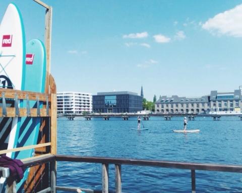 standup paddling badeschiff